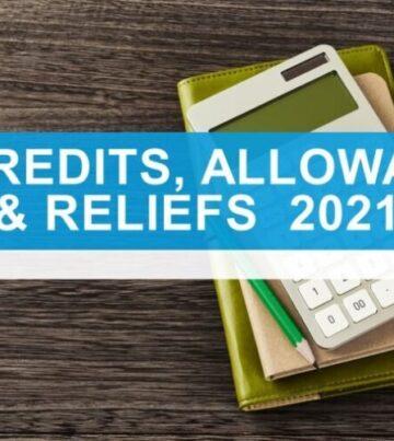 Tax credits, allowances & reliefs 2021